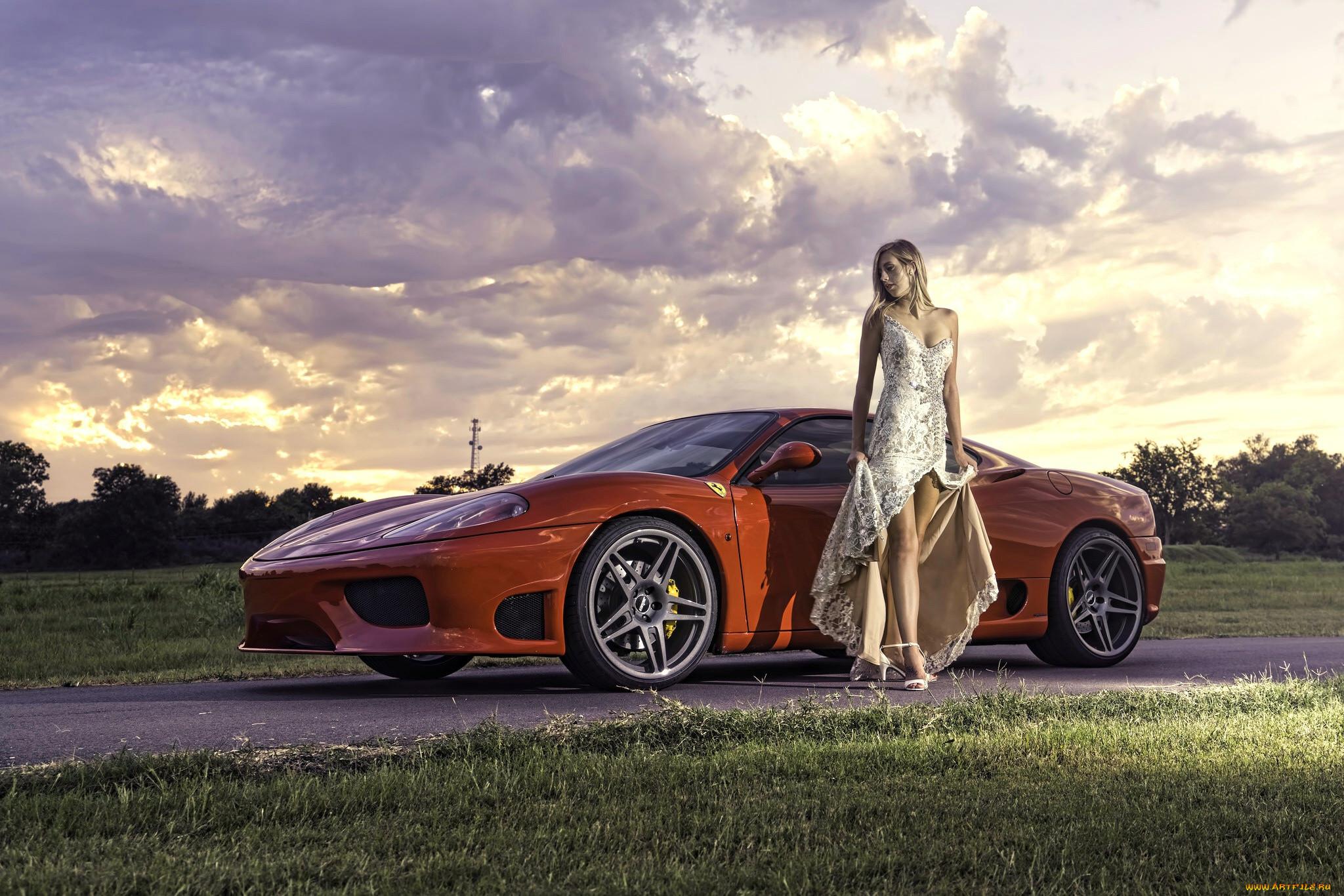 Картинки девушки и машини